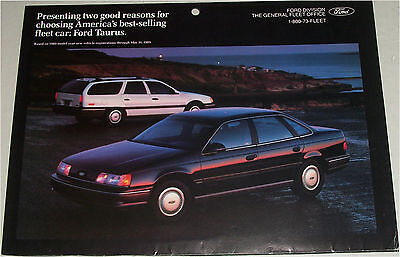 1990 Ford Taurus Wagon - 1990 Ford Taurus 4 dr sedan & Station Wagon car print
