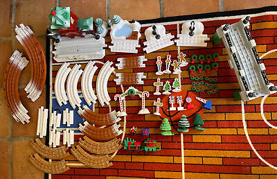 Fisher Price GeoTrax Christmas Train Set - Music & Lights Lot Of 58 Pieces