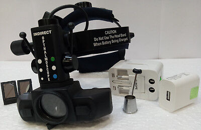 Rechargable Wireless Ophthalmoscope Indirect With Carry Bag Accessories
