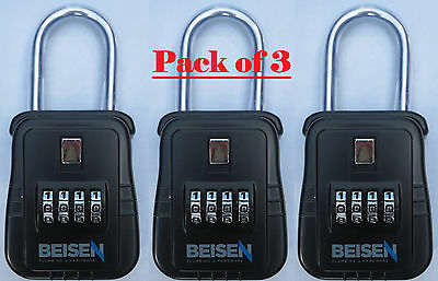 Pack Of 3   Lockbox Key Lock Box For Realtor Real Estate 4 Digit