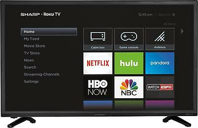 "Sharp - 32"" Class  - LED - 720p - Smart - HDTV Roku TV -"
