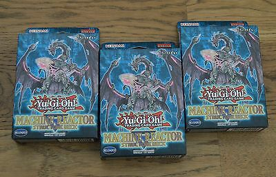 Yu-Gi-Oh! 3x Machine Reactor Structure Deck Deutsch 1. Auflage Neu & OVP