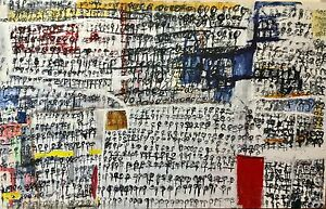 """Abstract Painting by SA Artist BILL BOTTON - """"India"""" Norwood Norwood Area Preview"""