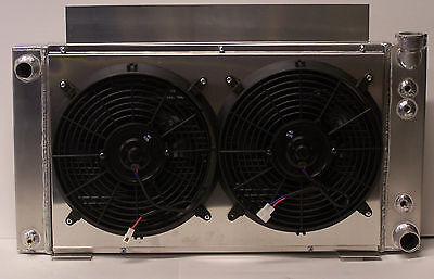 v-8 v 8 s10 aluminum radiator v8 conversion 2 row and fans and shroud