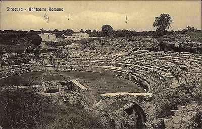 Syrakus Siracusa Italien Italia Sizilien AK ~1910 Anfiteatro Amphitheater Teatro