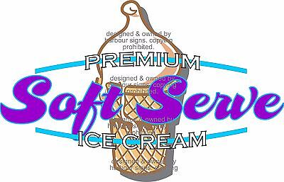 Ice Cream Decal 14 Soft Serve Food Truck Restaurant Concession Food Truck Cater