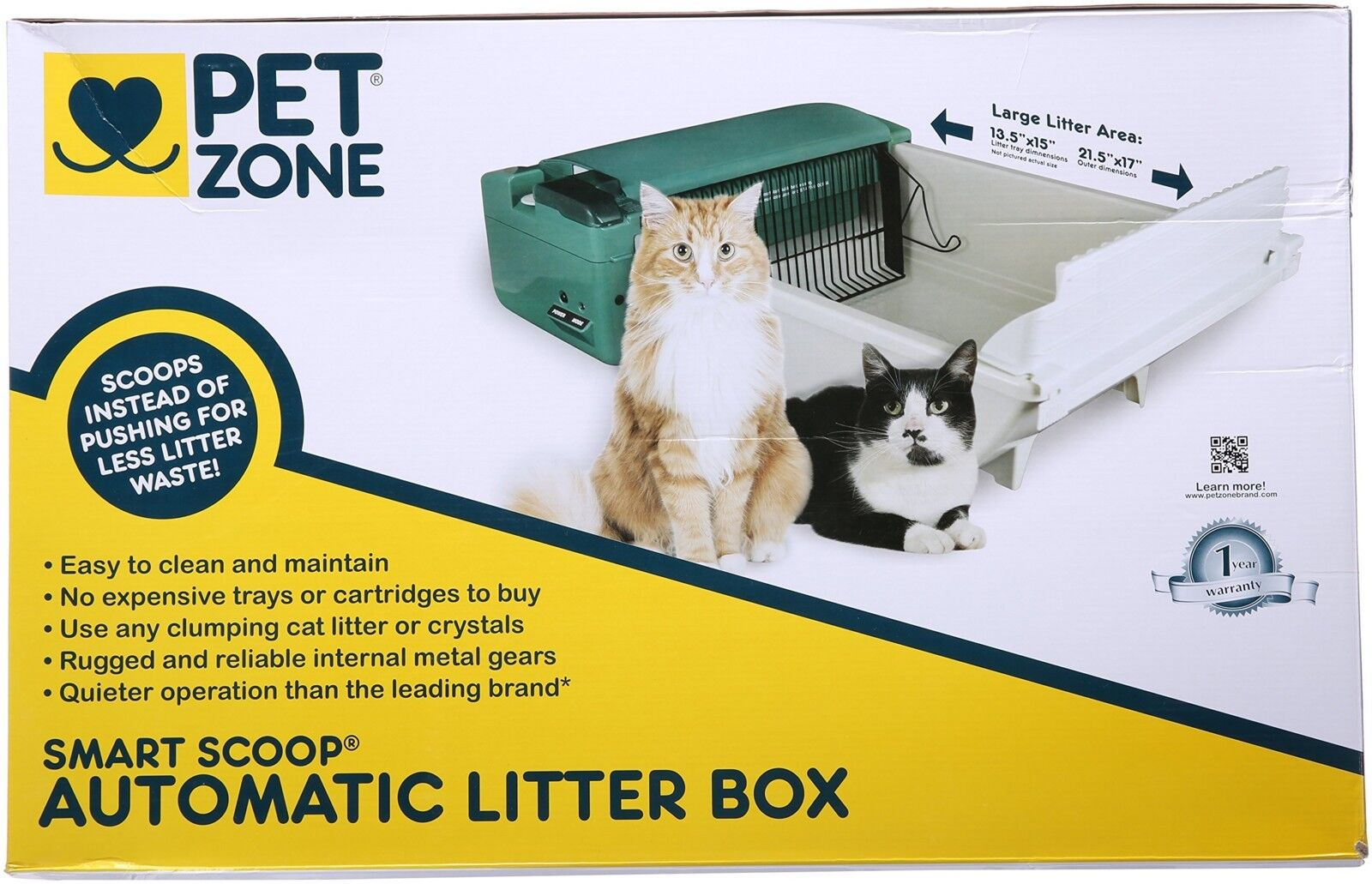 Automatic Self Cleaning Cat Litter Box Pet Smart Scoop Zone