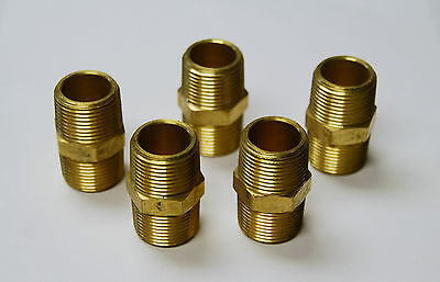 Brass Fittings Brass Hex Nipple Size 12 Quantity Of 5