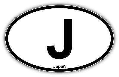 TOKYO Country Code Oval Bumper Sticker or Helmet Sticker D999 Japan