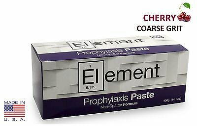 Element Prophy Paste Cups Cherry Coarse 200box Dental Non-splatter Wflouride