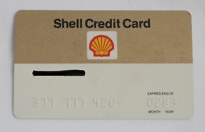 Shell Gas Credit Card 1983 Expired Vintage