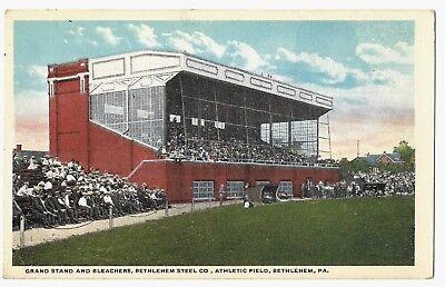 Vintage Postcard: Grand Stand & Bleachers, Bethlehem Steel, Athletic Field, PA