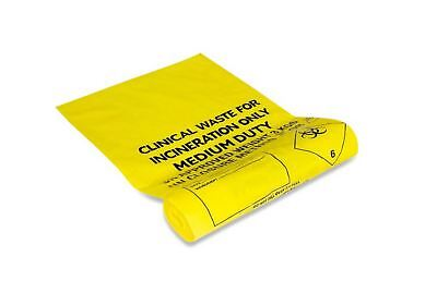 Medium Duty Clinical Waste Sacks For Incineration 14x22x25