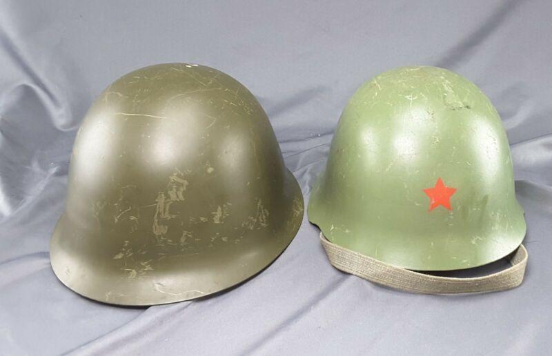 Vintage Pair Military Helmets