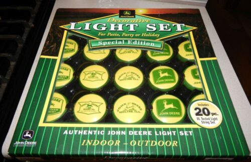 John Deere Decorative Light Set for Patio Party or Holiday 20 Piece UL Tested