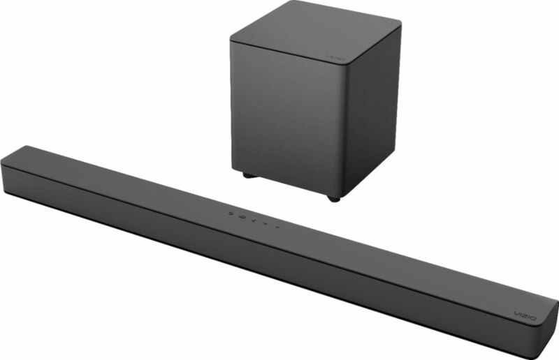 VIZIO - V-Series 2.1 Channel Sound Bar System with Wireless Subwoofer - Black