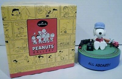 Hallmark Peanuts Snoopy On The Right Track All Aboard Figurine Limited Edition