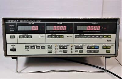 Yokogawa 2533 Single Phase Ac Digital Power Meter W Power Cord