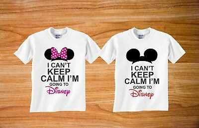 Mickey and Minnie ears i Cant Keep Calm I'm Going to Disney matching tshirt  ()