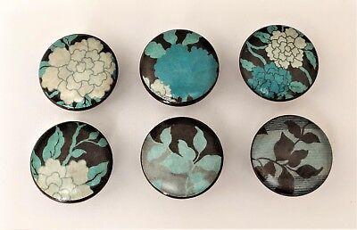 Handcrafted ART NOUVEAU FLORAL Wood Cabinet Knobs Drawer Knobs (Art Nouveau Cabinet Knob)