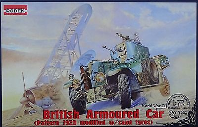 RODEN® 734 British Armoured Car Pattern Mk.II 1920 w/Sand Tyres in 1:72