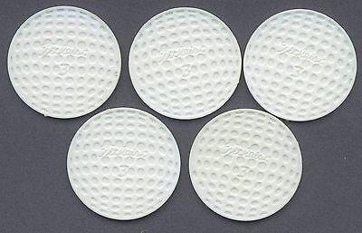 5 White Titleist Poker Chips - Golf Ball Markers - Special promotion poker chips Bulk Golf Ball Markers