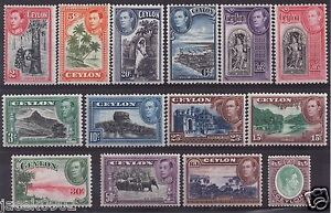 GB-CEYLON 1938/1947 -KGVI -Tourism -Pictorial issue- SG 386-397 VF MM/* - <span itemprop='availableAtOrFrom'>Szczecin, Polska</span> - GB-CEYLON 1938/1947 -KGVI -Tourism -Pictorial issue- SG 386-397 VF MM/* - Szczecin, Polska
