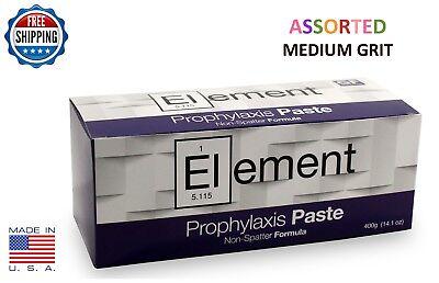 Element Prophy Paste Cups Assorted Medium 200box Dental Non Splatter Fluoride