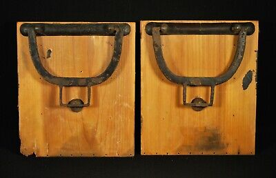 ANTIQUE EDO ERA JAPANESE TANSU FURNITURE HARDWARE / Iron Side Carrying Handles