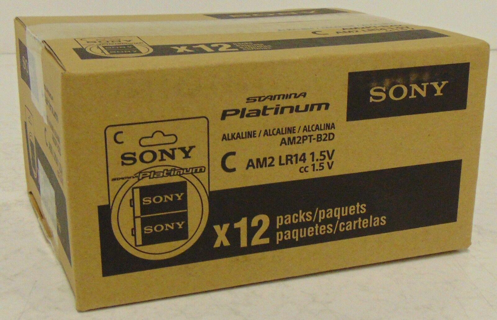 Sony AM2PT-B2D Stamina Platinum Alkaline C Batteries