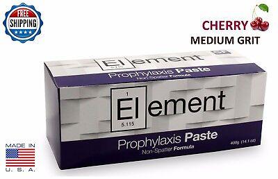 Element Prophy Paste Cups Cherry Medium 200box Dental Non Splatter Wfluoride