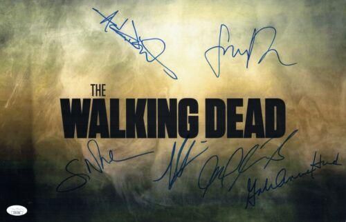 Cliff Curtis FEAR THE WALKING DEAD Cast X6 Signed 11X17 Autograph JSA COA Cert