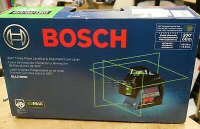 Bosch Gll3-300g 360 Three Plane Leveling Alignment Line Laser New