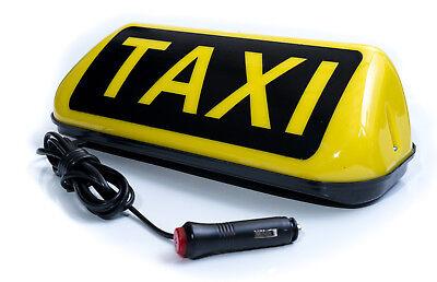 Taxi Magnet Dachschild LED Taxi Dachzeichen Roof Sign Personenbeförderung 12V