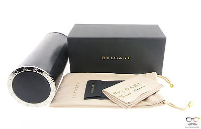 Brand New Bvlgari Black Hard Pouch Eyeglasses Case Authentic Box Cleaning Cloth