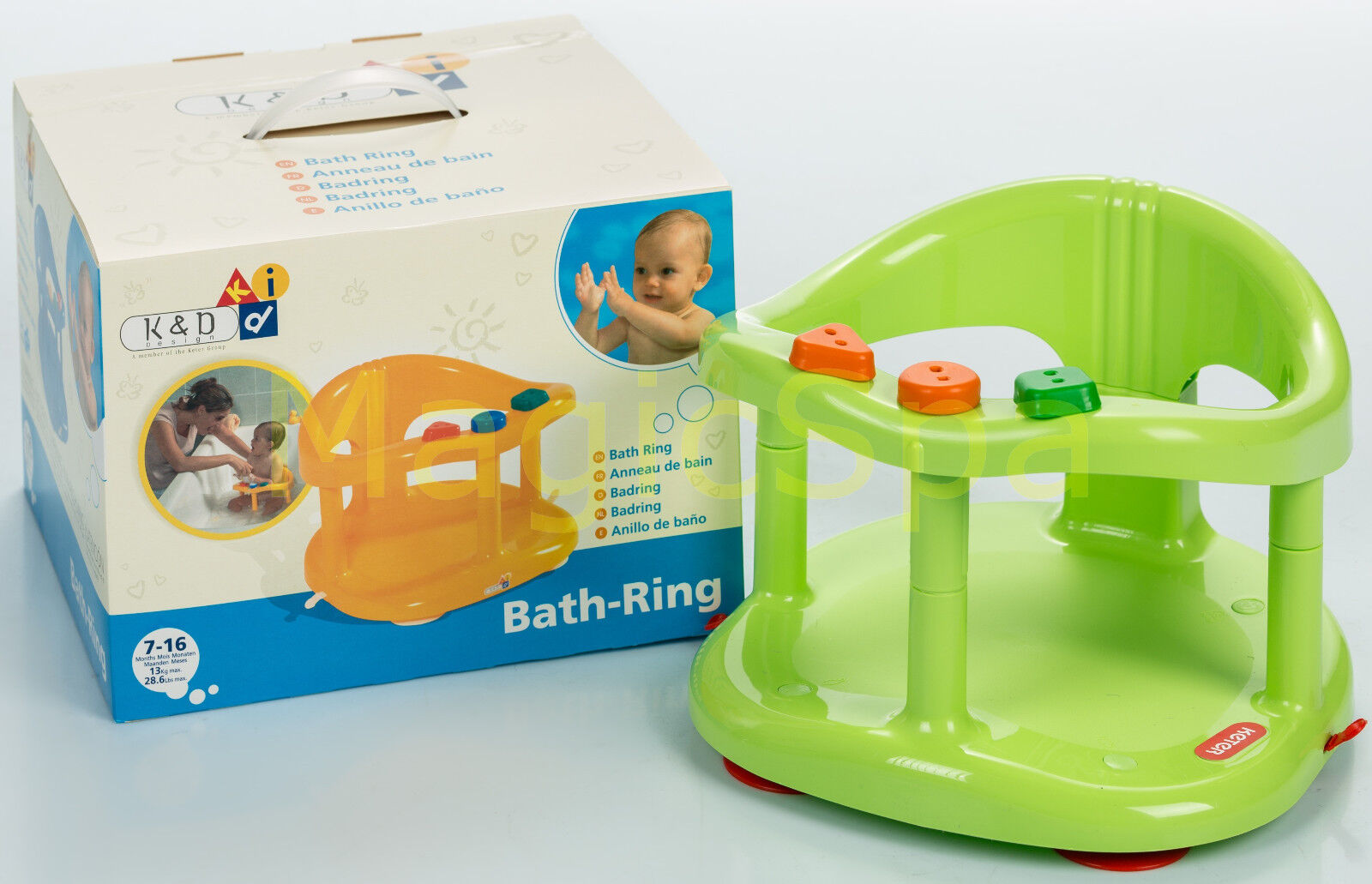 Infant Baby Bath Tub Ring Seat KETER GREEN FAST SHIPPING FROM USA ...
