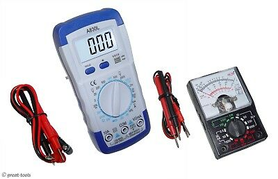 Digital Meter Analog Meter Set Multimeter Dmm Electronics Measuring Tools
