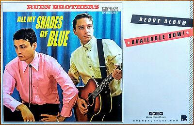 RUEN BROTHERS All My Shades of Blue 2018 Ltd Ed RARE Poster +FREE Folk Poster!