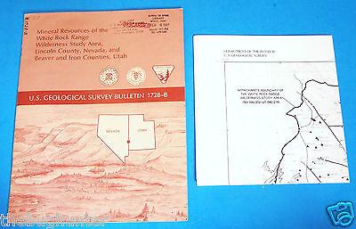 1986 Usgs Bulletin 1728B   Mineral Resources  White Rock Range  Nevada And Utah
