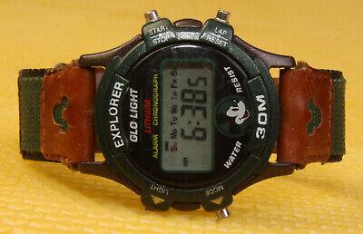 Men's Vintage MICKEY MOUSE Digital LCD Quartz Watch <VGU> ()