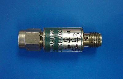Telonic Berkeley 4db Fixed Attenuator Dc-6ghz 2w Model 8207-4 Sma