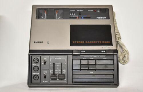 RARE Vintage Philips Stereo Cassette Deck N2501