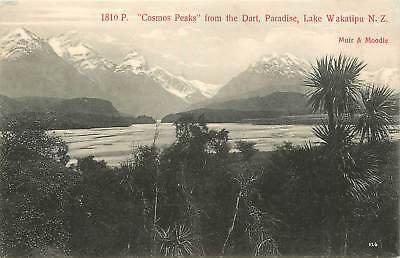 New Zealand, NZ, Lake Wakatipu, Cosmos Peaks from the Dart, Paradise Early PC