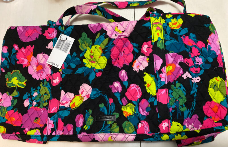 Nwts Vera Bradley Large Traveler Duffel Hilo Meadow Luggage Carry On Bag $99