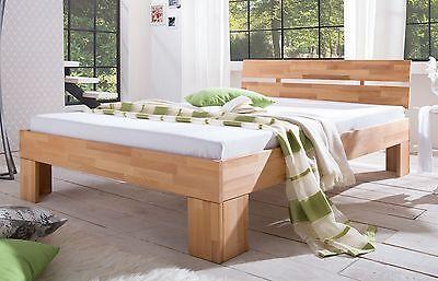 Bett Doppelbett Bettgestell ALICE 160 x 200 Kernbuche Buche massiv geölt 160x200