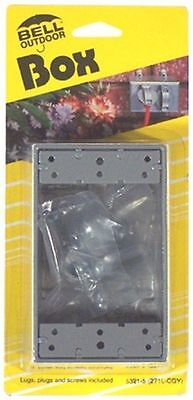 NEW Bell Outdoor #5324-5 GRY WP 1G Outlet - 1g Outlet Box