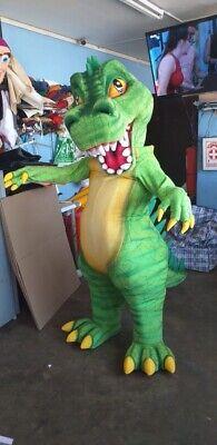 Trex Green Dinosaur Pangea Mascot Costume Party Character Halloween Cosplay Suit (Green Suit Halloween Costume)