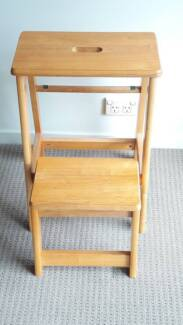 Solid timber stepping Stool