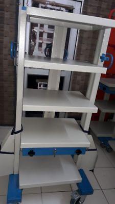 Laparoscopic Endoscopy Perfect Trolly Tower Mobile Workstation 5 Shelves