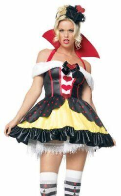 Queen Of Hearts Adult Costume (LEG AVENUE QUEEN OF HEARTS ADULT COSTUME VARIOUS SIZES BRAND)
